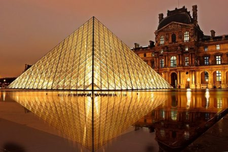 Visiting the Louvre in Paris is 1 of 4 classic European city breaks.