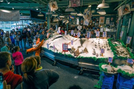 Seattle is 1 of 3 best weekend getaways to the U.S.A. and includes a visit to Pike Place Market.