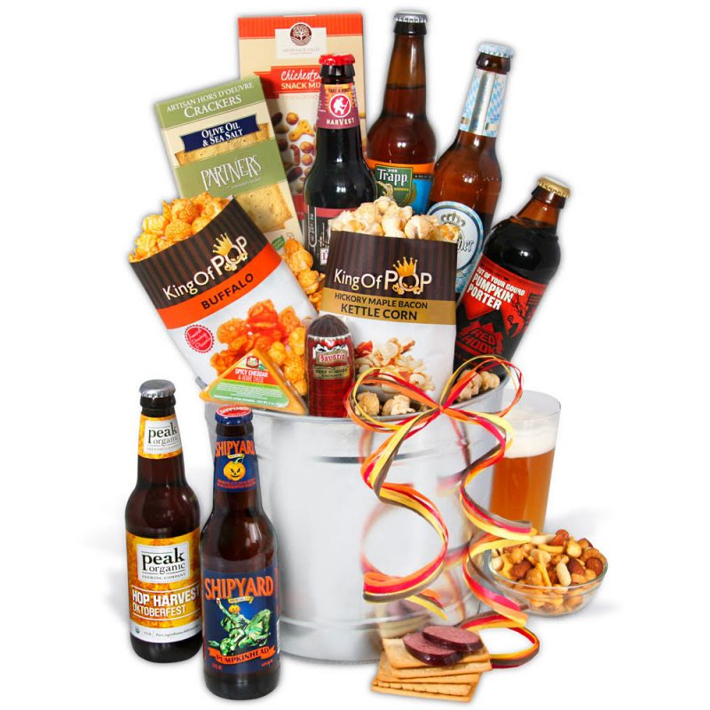 Cheers to this Beer Gift basket for Guys.