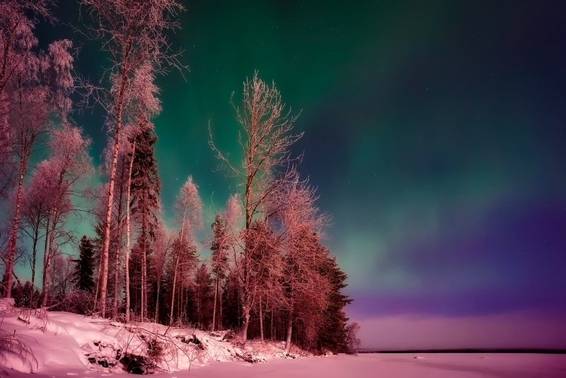 The winter in Finland is spectacular especially with the Northern Lights.