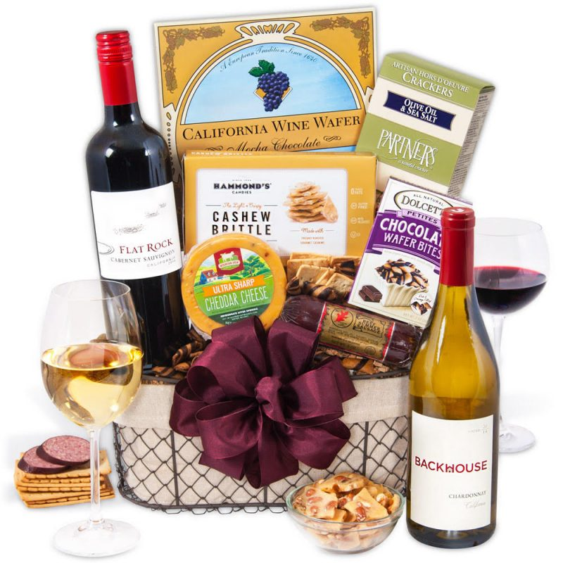 1 of the 5 best gift baskets for guys is the Wine Party Picnic Basket,