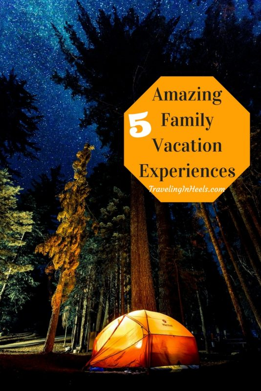 From camping to scuba diving, 5 amazing family vacation experiences
