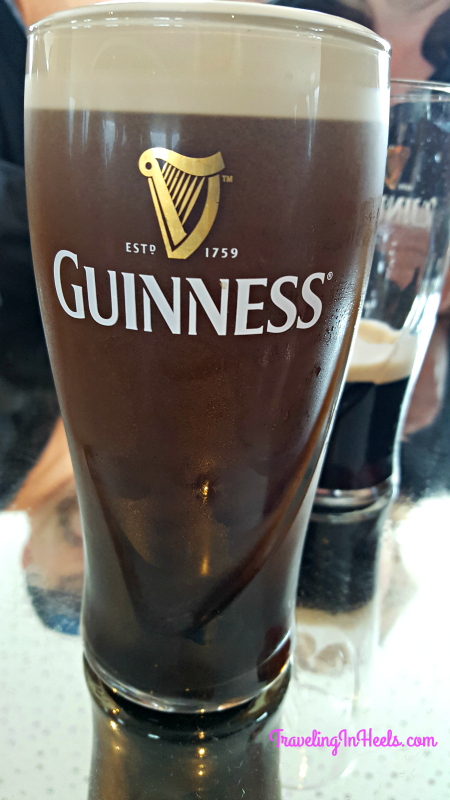 When in Dublin, Ireland, one must order their famous local beer, Guinness.