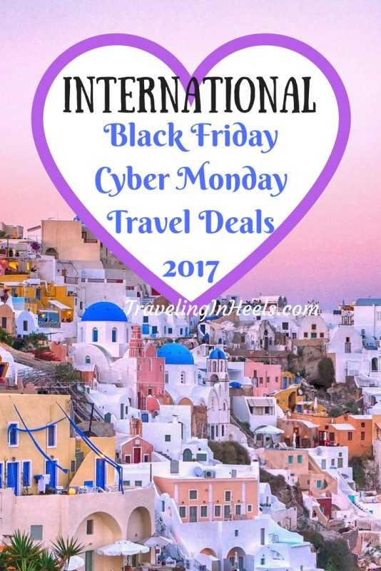 Book your next vacation with these International Black Friday Cyber Monday Travel Deals.