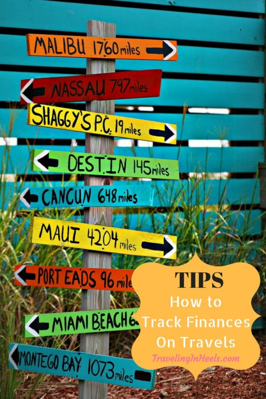Tips to track finances on your travels.