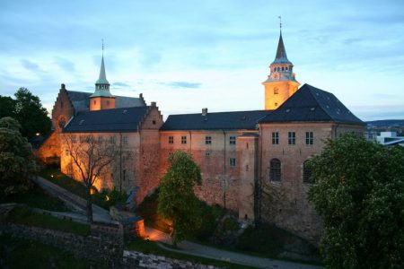 Akershus Fortress or Akershus Castle is a medieval castle that was built to protect Oslo, the capital of Norway.