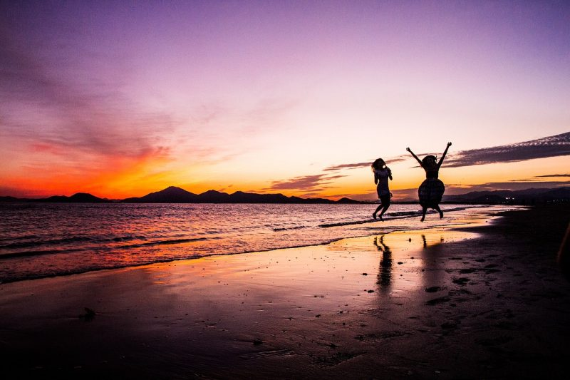 Add swimming on a beach at night to your list of amazing family vacation experiences.