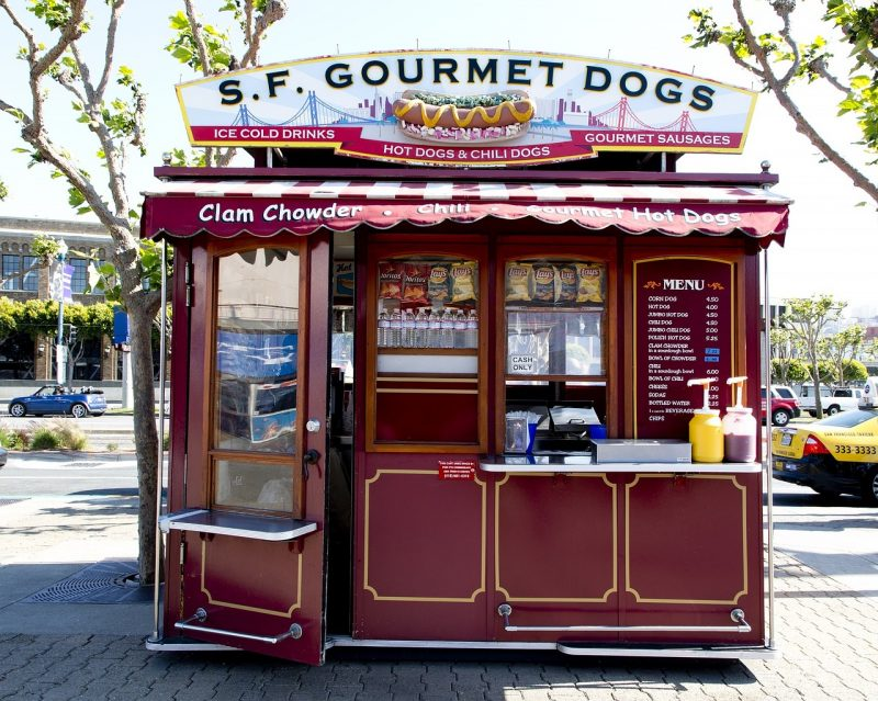 Maybe not 5-star..but San Francisco foodies can also enjoy tasting hot dog stands in Trolley