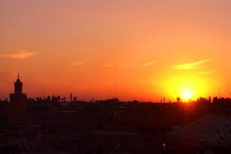 Take in the views and the sunsets on your Solo travel to Marrakech in Northern Africa.