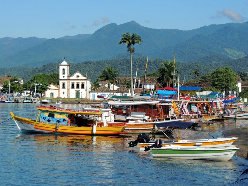 Paraty is a small town backed by mountains on Brazil's Costa Verde, between Rio de Janeiro and São Paulo.