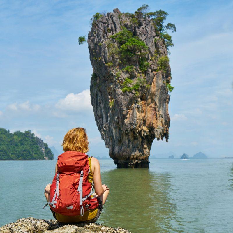 Take a hike to Phang Nga Bay (James Bond Island) in Phuket, Thailand.
