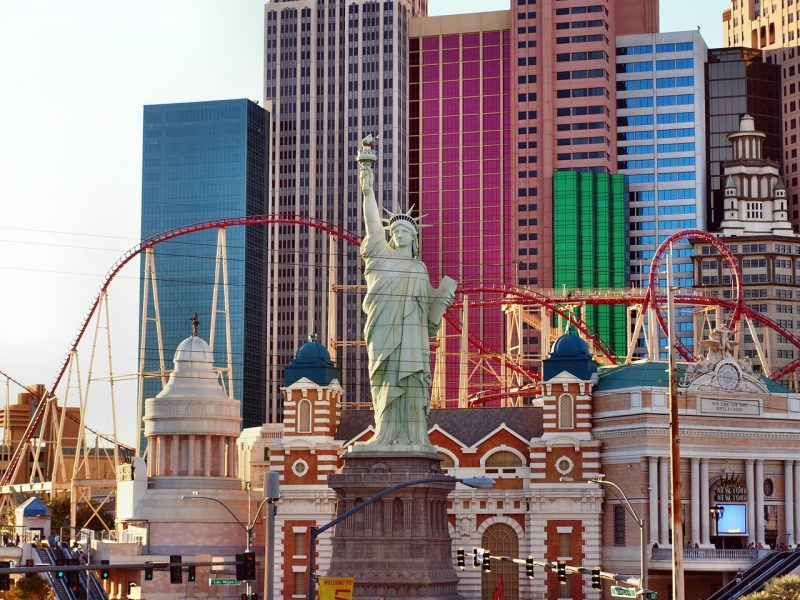 The best view and thrill in Sin City is riding the roller coaster on top of the New York New York Hotel & Casino