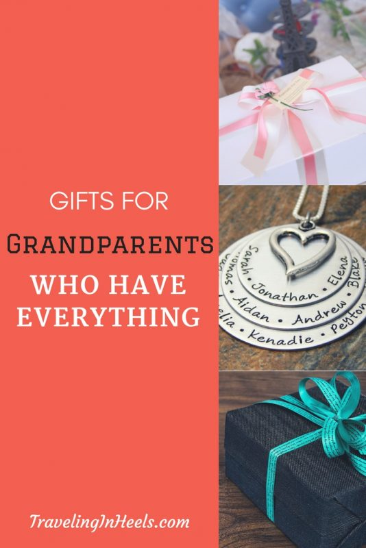 Gifts for Grandparents who have everything -- no matter the reason or the season.
