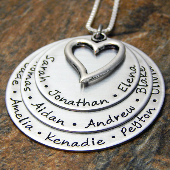 Personalized jewelry is always a favorite in this Gift guide for grandparents who have everything. Photo: Etsy