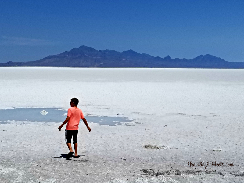 Even regular stops on at rest areas can sometimes be the highlight of your road trips with views like this of the Bonneville Salt Flats in Utah -- behind the restrooms.