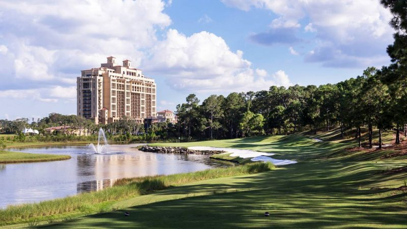 This is your approach to the Four Seasons Orlando Resort at Walt Disney World