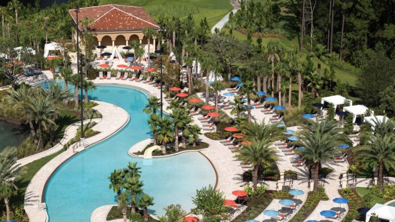My grandkids LOVE pools and the Four Seasons Resort Orlando definitely brings the water adventures.