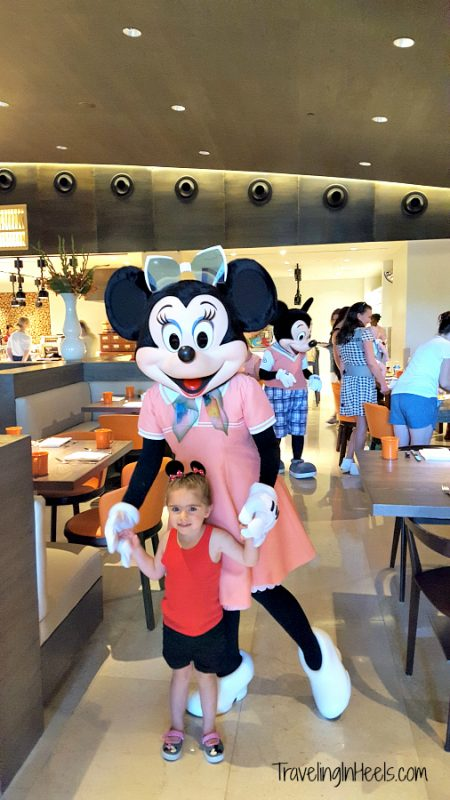 Meeting Minnie Mouse for the first time is Magical Reasons Why You Should Stay at Four Seasons Resort Orlando at Walt Disney World.