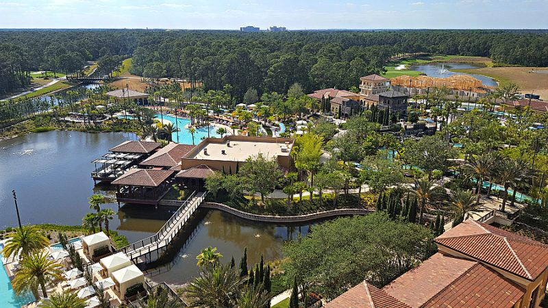 The view of Disney theme parks from the Four Seasons Resort Orlando at Walt Disney World is one of the magical reasons why you should stay.