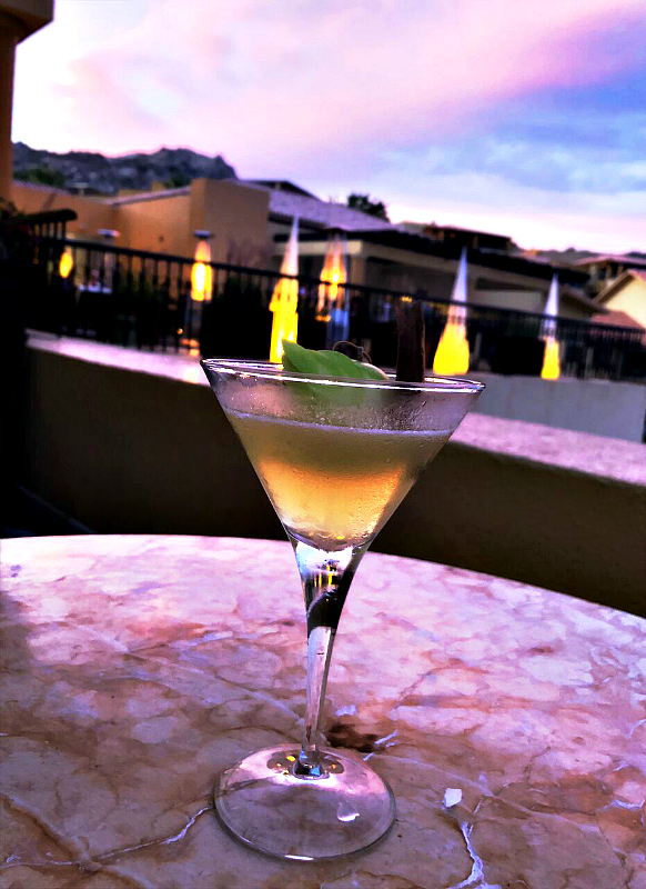 Shaken, not stirred, and oh so good, Apple Pie Martini, from the Grand Fiesta American Los Cabos