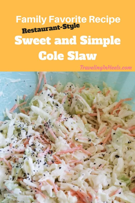 Family Favorite Recipe sweet and simple cole slaw