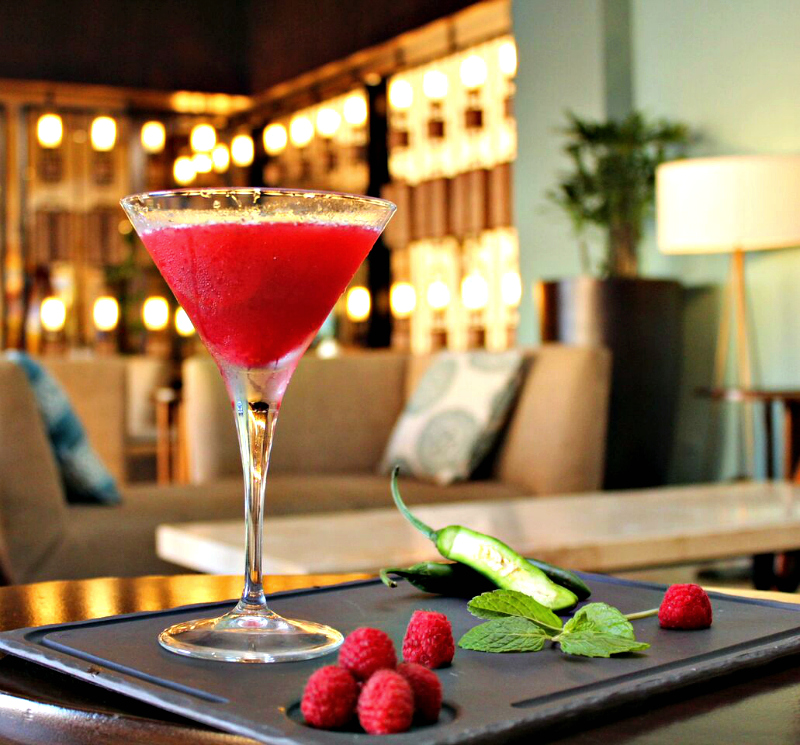 Served in a martini glass, Red Passion is one of 2 easy cocktail recipes, courtesy of Playa Grande Resort & Grand Spa, Mexico