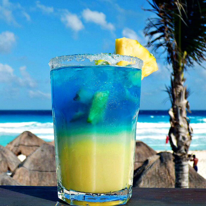 Say hola to this beauty and start sipping the Seadust Margarita, cocktail recipe & photo courtesy of Seadust Cancun Family Resort.