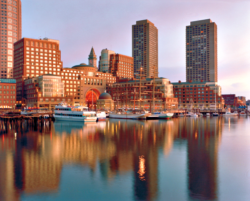 And then there's the view like this one from the historic Boston Harbor Hotel at Rowes Wharf. Photo credit: Boston Harbor Hotel