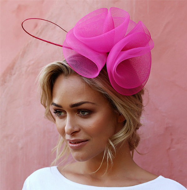 Pretty in Pink - Kentucky Derby hats. Photo: Hello Molly