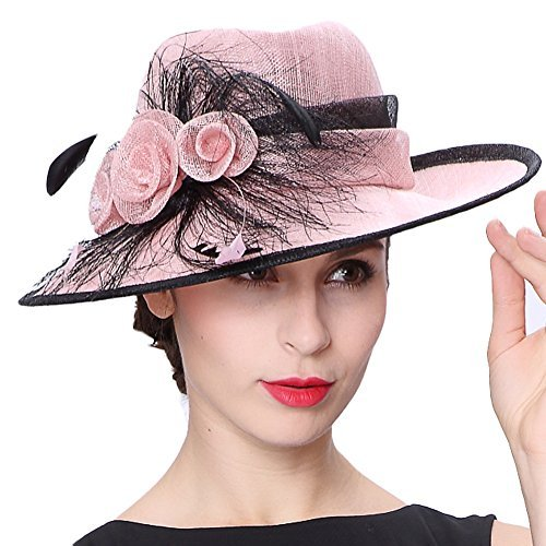Pretty in Pink with this Koolas Lady Pink Kentucky Derby Hat