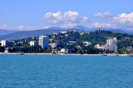 View of Sochi, Russia, from Black Sea. Photo: Wikitravel