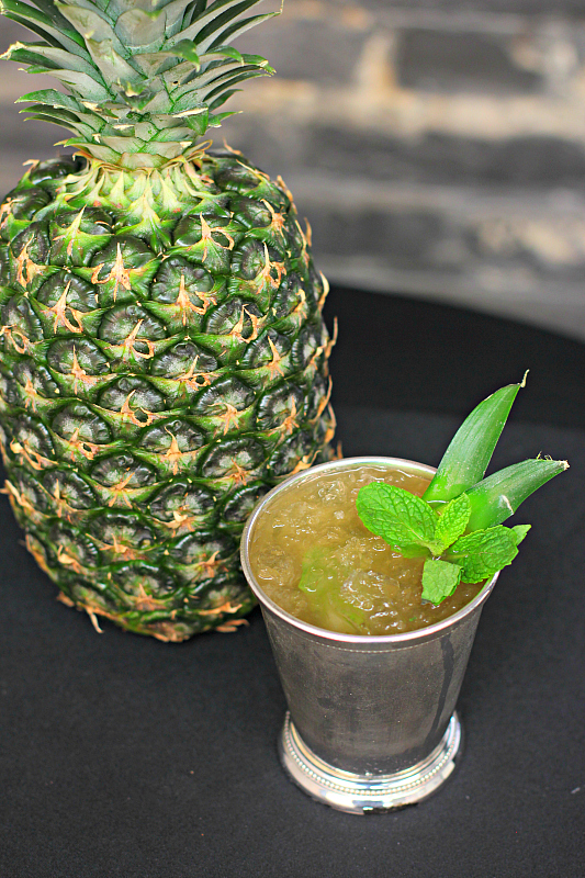Mix up a non-alcoholic julep for your Kentucky Derby party. Pineapple Mint Tea Julep Mocktail. Photo Credit: Flavorman