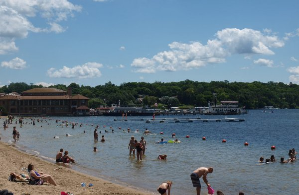 When near Geneva Lake, your family vacation has to include taking a swim! Photo Credit: Visit Lake Geneva