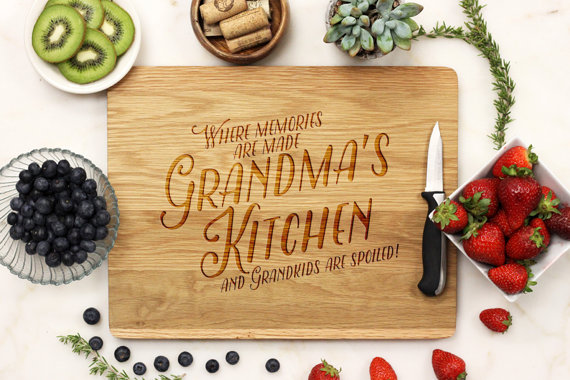 Personalized Kitchen Board for Grandmom Photo credit: Etsy