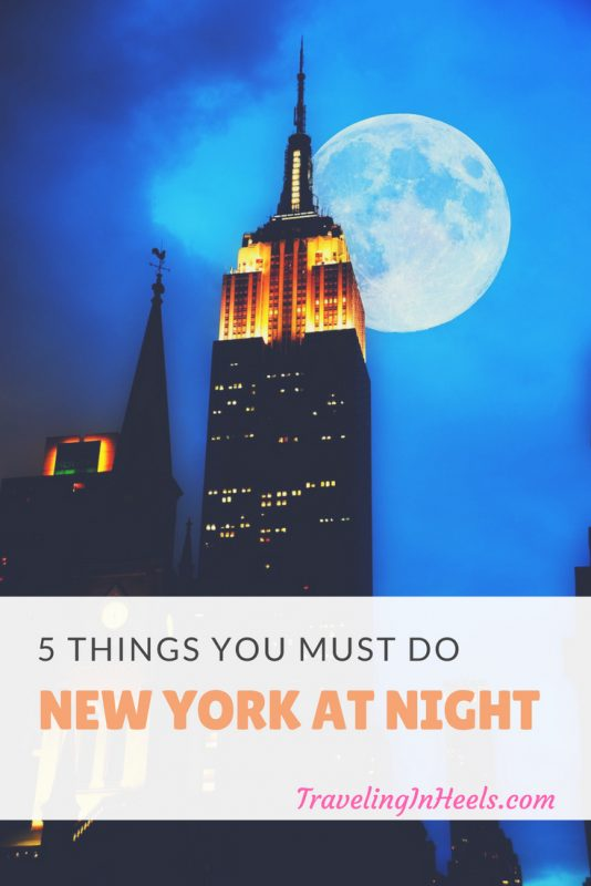 From pub crawls to night tours of museums, these are 5 things you must do - New York at night. #newyorkcity #nyc #thingstodoinnyc #newyorkatnight