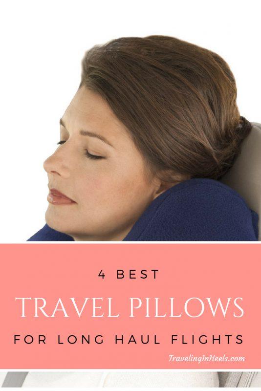 4 best travel pillows for long haul flights #traveltips #neckpillows #airplanepillows