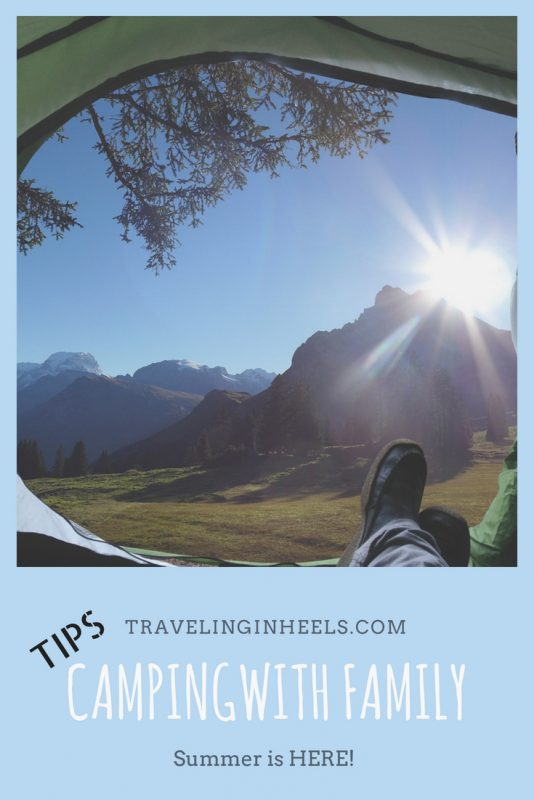 Tips when camping with family #traveltips #campingtips #campingwithfamily