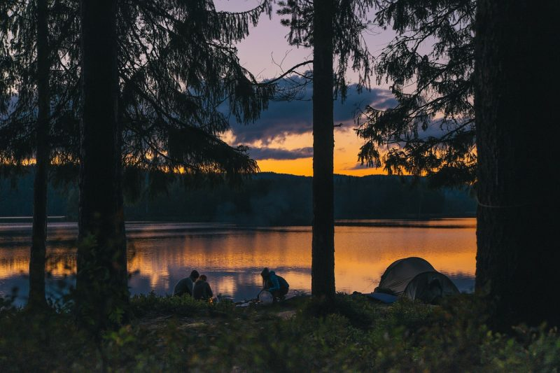 The views from your tent when camping with family are priceless.