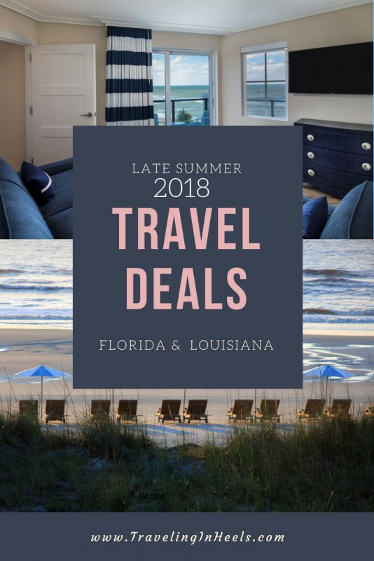 Late summer 2018 travel deals from florida to Louisiana #traveldeals #summertraveldeals