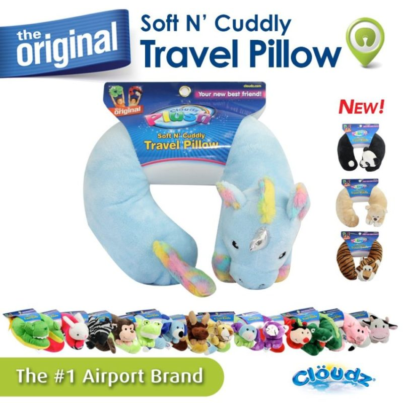 Yes, it's soft and cuddly and it's a unicorn, the perfect travel pillow for kids.