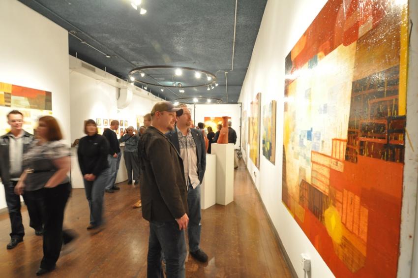 People enjoying the art displayed during Denver Arts Week. Photo: VISIT DENVER