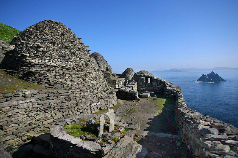 The monastic Island, Skellig Michael founded in the 7th century, for 600 years the island was a centre of monastic life for Irish Christian monks. The Celtic monastery, which is situated almost at the summit of the 230-metre-high rock became a UNESCO World Heritage Site in 1996. It is one of Europe's better known but least accessible monasteries. Photo: Valerie O'Sullivan