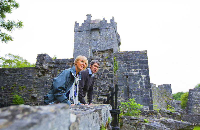 Ireland's Aughnanure castle view from above Photo: VagabondSmall Group Tours of Ireland