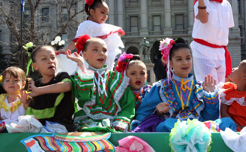 One of the largest in the U.S., annually in May, the Denver celebration of Cinco de Mayo includes a parade. Photo credit: Denver Cinco de Mayo