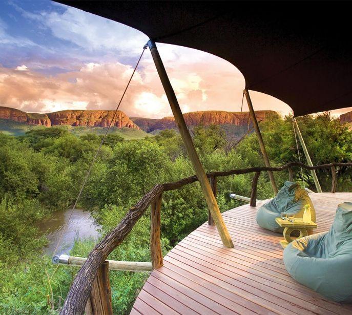 Private Deck on an African Safari? Yes you can when booking the Marataba Safari Lodge (photo credit to Marataba)