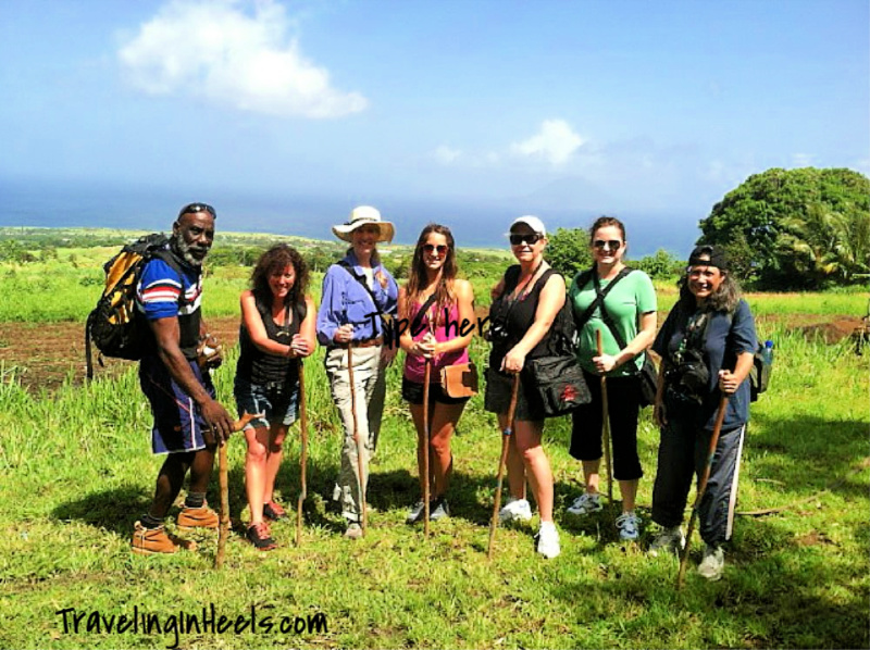 Adventure travel can be as rewarding as taking a hike. Pictured here: post-volcano hike on St. Kitts.