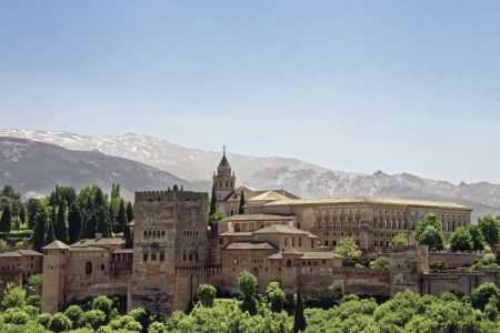 Alhambra, palace and fortress of the Moorish monarchs of Granada, Spain. #granadaspain #spain