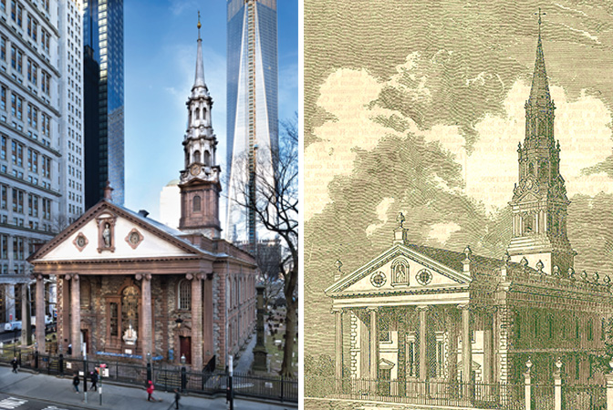 St. Paul's Chapel, located at Broadway and Fulton Street, is part of the Parish of Trinity Church Wall Street. Photo Credit: St. Paul's Chapel
