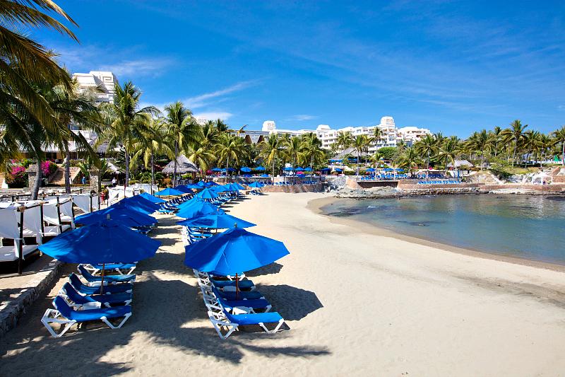 Palm trees. Check. White sand beaches. Check. Mexico. Check. Photo credit: Barcelo Karmina, Manzanillo, Mexico