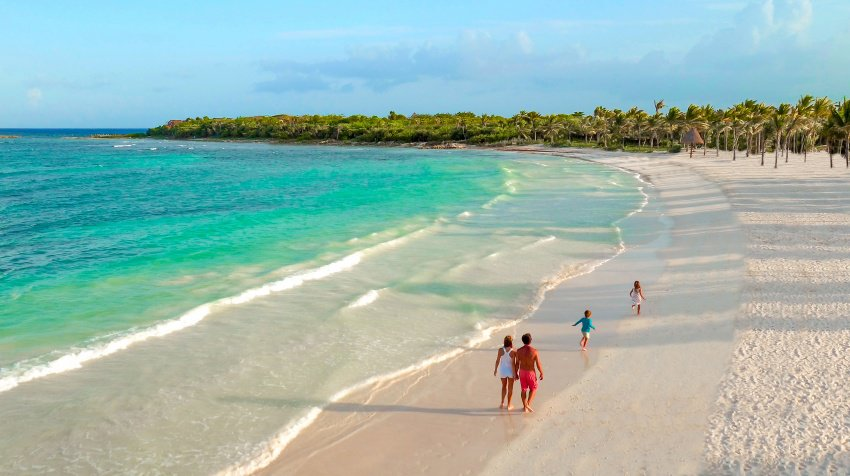 Sometimes it can be about the white sand beaches when you check into one of the five resorts in Riviera Maya. Photo credt: Barcelo Maya Riviera Maya Beach Resort